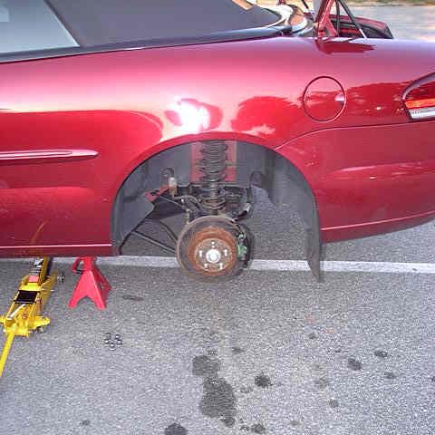 Left Rear Disc Brake Assembly