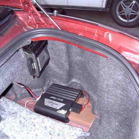 Kenwood Music Keg, Alpine Amplifier, and Power Antenna