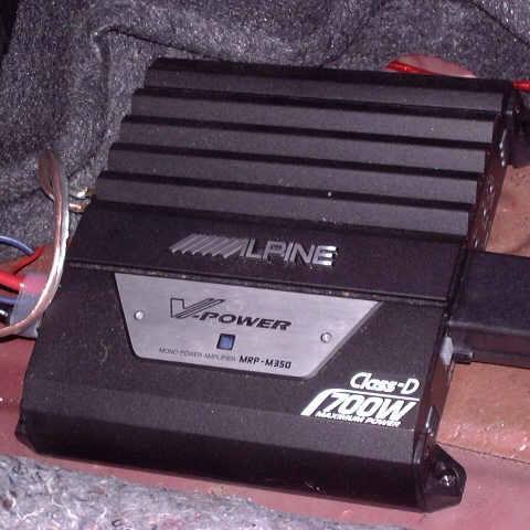 Close-Up of Alpine Amplifier