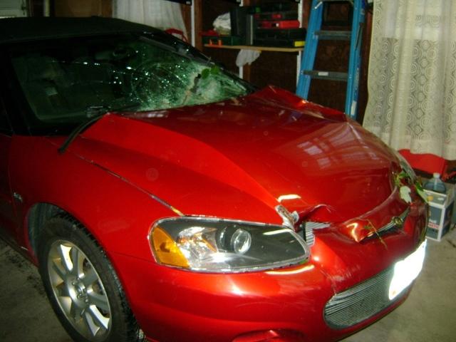 S on 2002 Chrysler Sebring Red