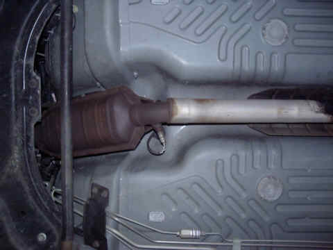 Catalytic Converter (Stock) View - Bottom