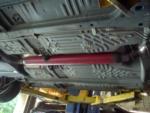 "View of 40"" Glasspack Muffler"