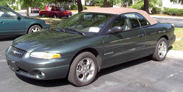 My old 2000 Chrysler Sebring Convertible Limited